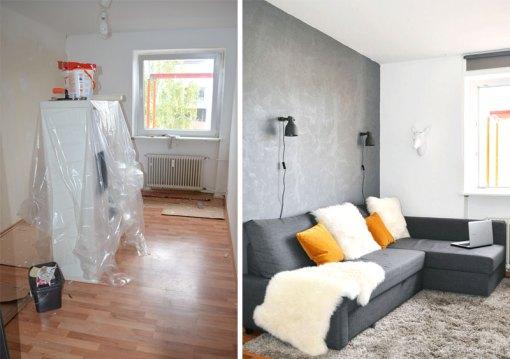 pretty in grey: unser wohnzimmer plus diy blumenampel |, Wohnzimmer