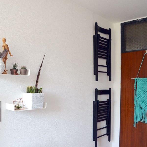 kein stauraum st hle an die wand. Black Bedroom Furniture Sets. Home Design Ideas