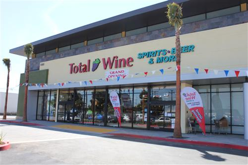 Total Wine & More in Redondo Beach is a beverage warehouse with extensive selections of wine, beer, and liqu
