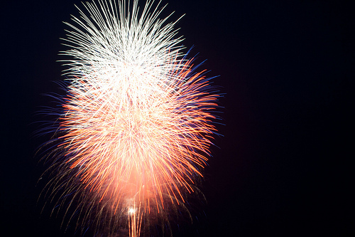 Fireworks by ebdewey via Flickr