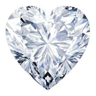 Diamond Heart Cut or Shape - Southbay gold