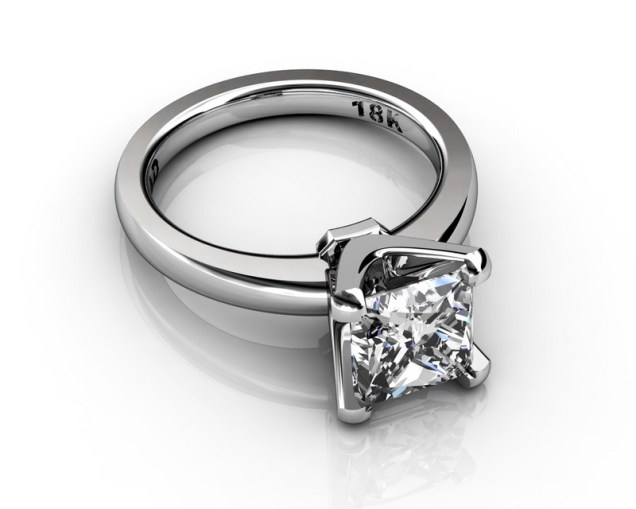 SOUTH BAY GOLD Princess 3Carat Diamond Platinum