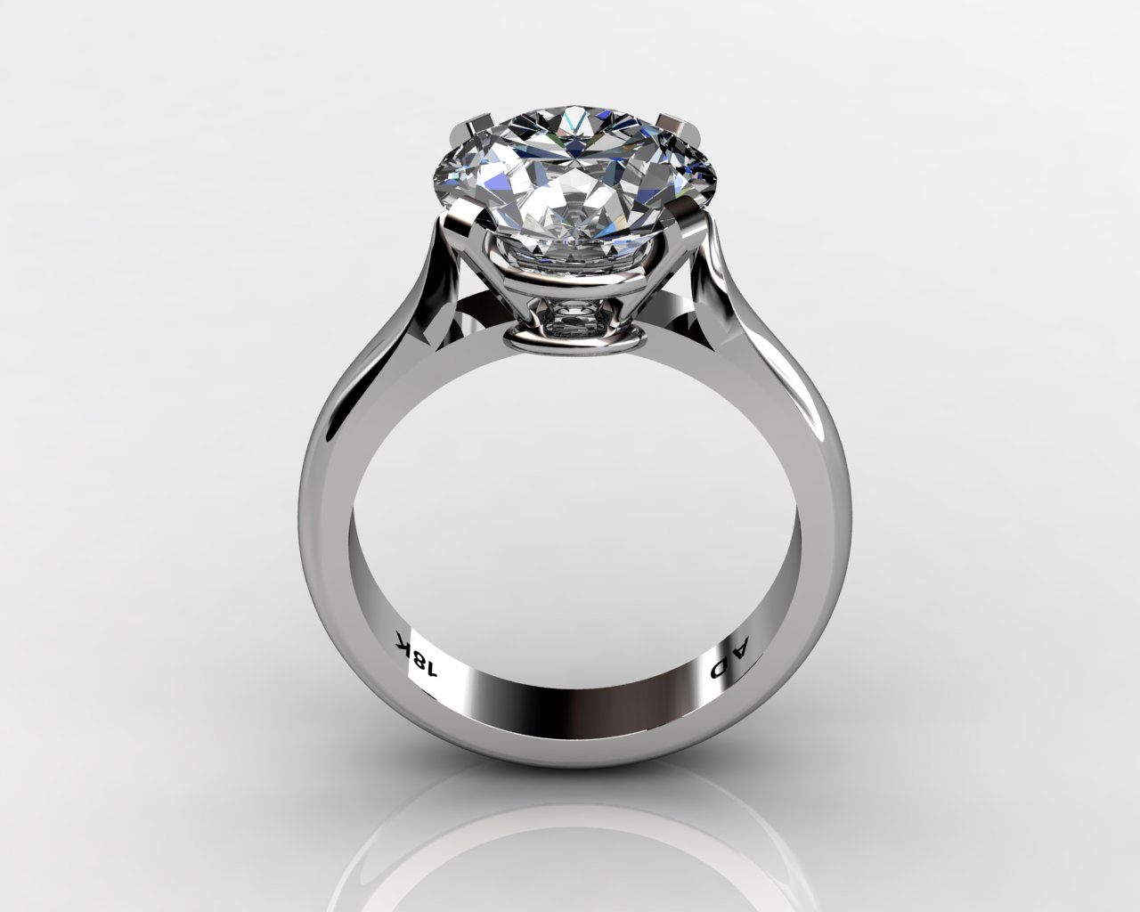 engagement rings round diamond wedding rings Round Cut Diamond Solitaire Engagement Wedding Ring South Bay Gold