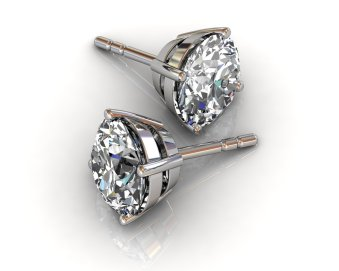 South Bay Gold Round Cut Stud Diamond Earrings -Jewelry Stores Torrance