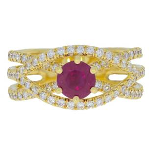 Ruby Diamonds Yellow Gold Ring - Adamantine - South Bay Gold - 310-791-5431