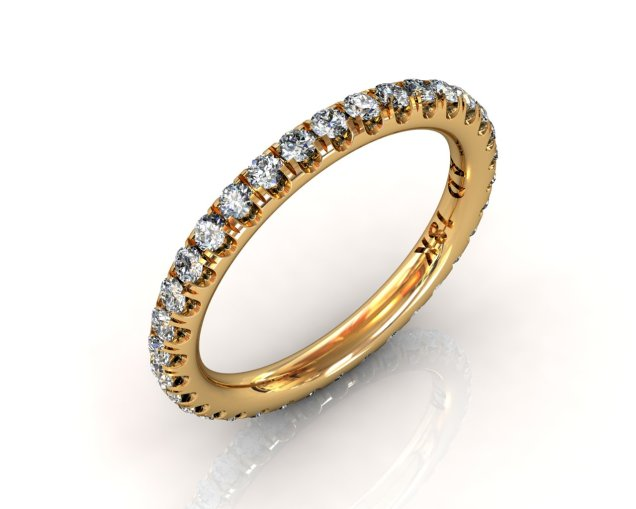 Wedding Bands Ladies Diamonds Craponia 24 Stone 0.74 TCW 3.0g 18kt Yellow Gold