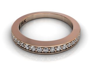 Wedding Bands Ladies Diamonds Pave´17 Stone 0.27TCW Diamonds 4.48GR 18KT Rose Gold Jewelry Store Torrance