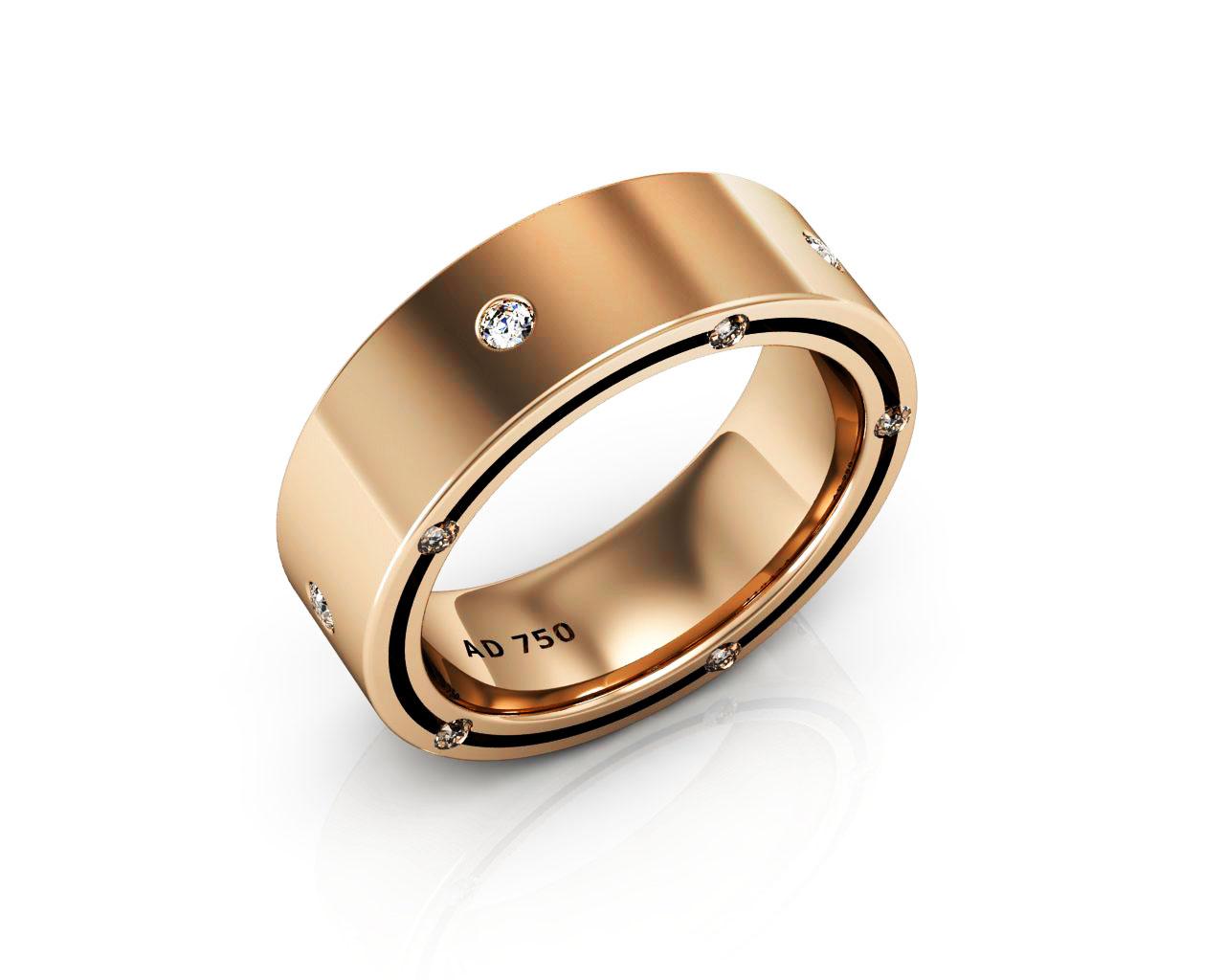 15 stone diamond rose gold mens engagement ring 1 gold mens wedding bands 15 Stone Diamond Rose Gold Men s Wedding Bands