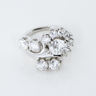 10 Diamond Estate Ring Auction Estate Jewelry Los Angeles