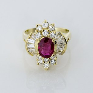 Ruby Diamond Estate Ring - South Bay Jewelry Store