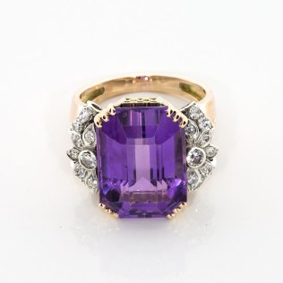 Purple Amythest Diamond Ring - Sell Estate Jewelry