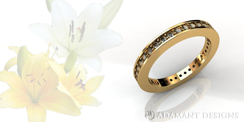 Eternity Wedding Band with 37 Diamonds