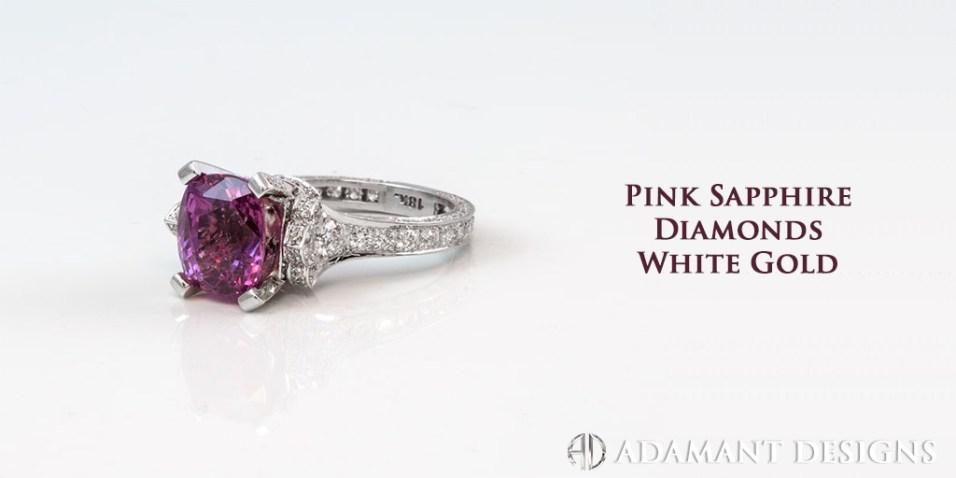 Pink Sapphire & Diamonds - SBG Jewelry Store - Torrance