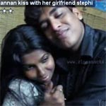 Manivannan's son kiss with girlfriend