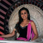 Rani Mukherjee on the set of DPL