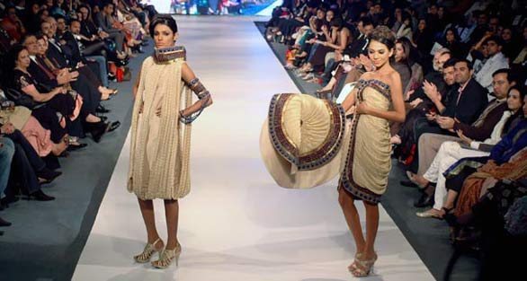 Pakistani models display creations by Mehdi PFDC Fashion Week in Lahore   Photo Gallery