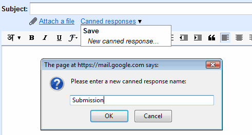 gmail canned response name Gmail Auto reply Using Gmail Canned Responses
