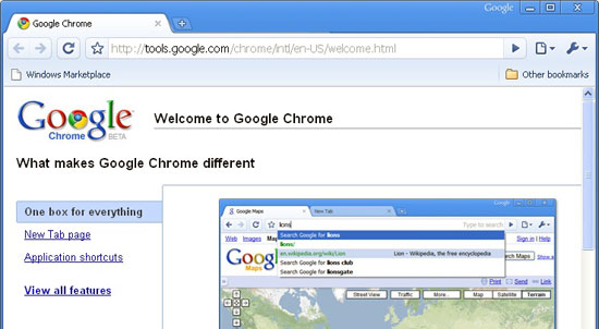 google chrome1 Google Chrome 10 Beta