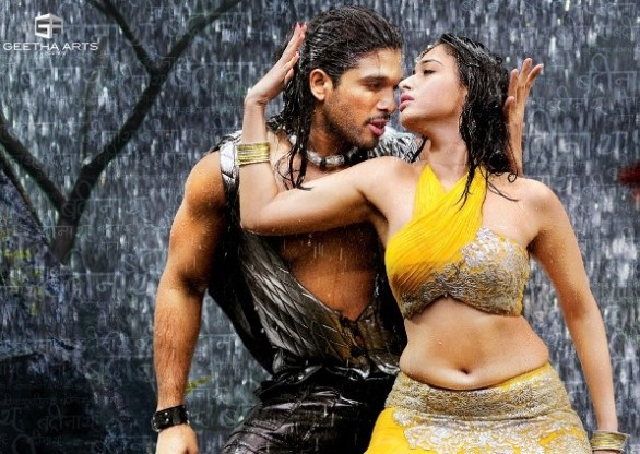 tamanna hot in badrinath14 586x416 Tamanna hot stills in Badrinath with Allu Arjun