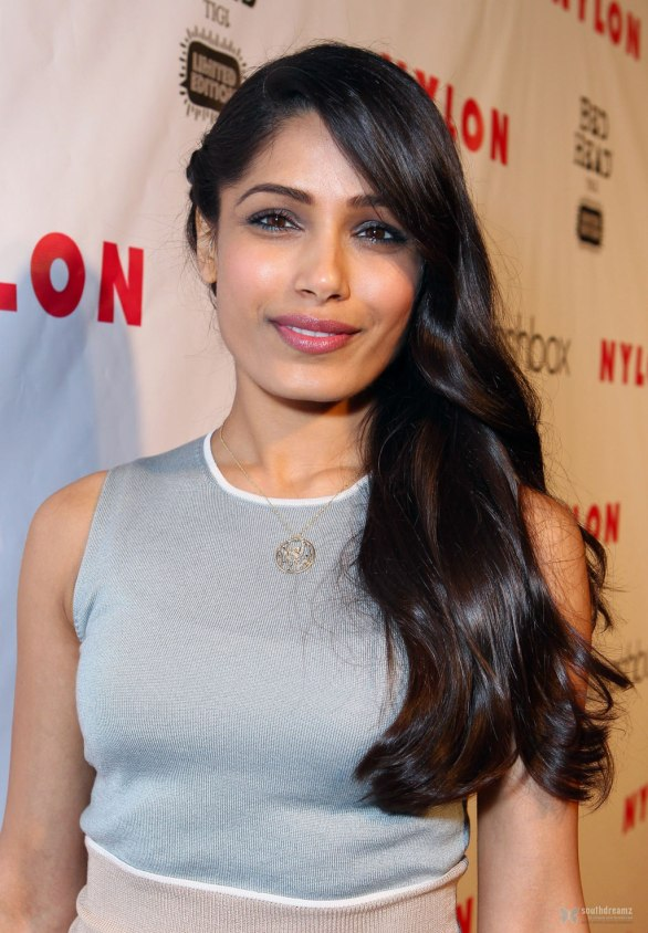 Freida Pinto attends Nylon Magazine 13th Anniversary Cel 013 586x844 Freida Pinto   Nylon Magazine 13th Anniversary Celebration