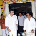 Ajith at AM Rathnam's Temple Kumbabishekam