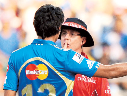 cautioned Top 8   The bad boys of IPL 2012