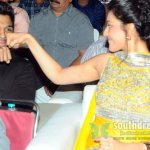 Allu Arjun and Kajal Agarwal fist bonding at Nayak audio launch