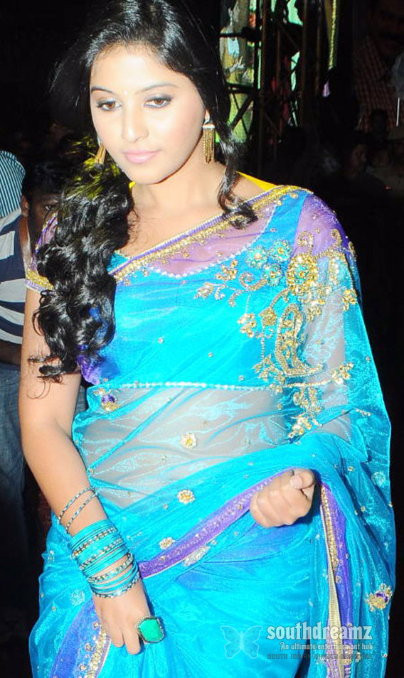 anjali Anjali Hot in Blue Saree