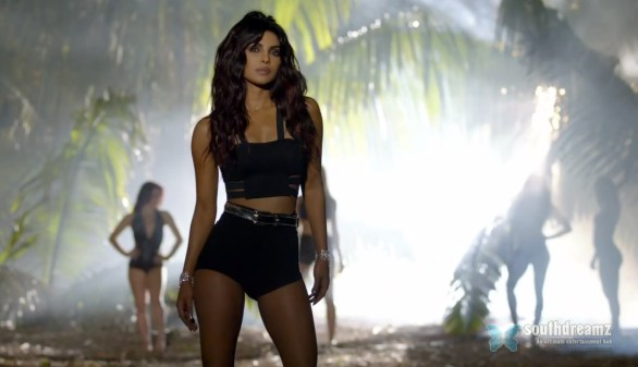 hot and sexy hindi actress priyanka chopra exotic video outfit 7 586x337 I Got My Belly Button Pierced in a Rebellious Mood   Priyanka Chopra