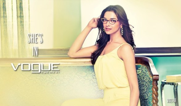 Deepika Padukone Print Media for Vogue Eyewear photos 9 586x343 Deepika Padukone Vogue Eyewear Photoshoot