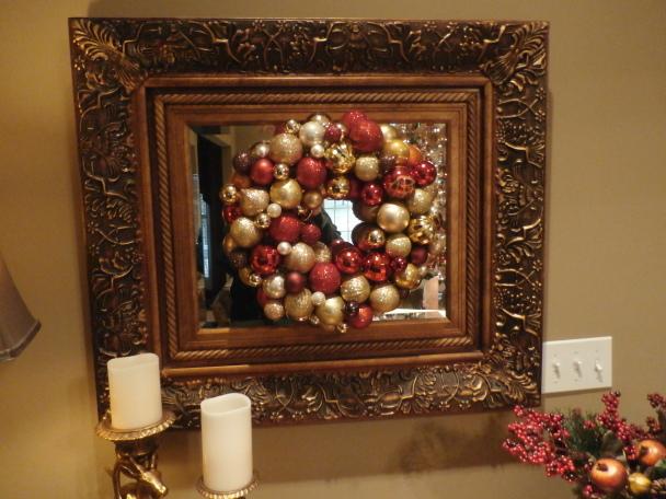 Easy Christmas Ornament Wreath DIY Project