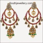 Ruby Polki Diamond Chandbali Earrings
