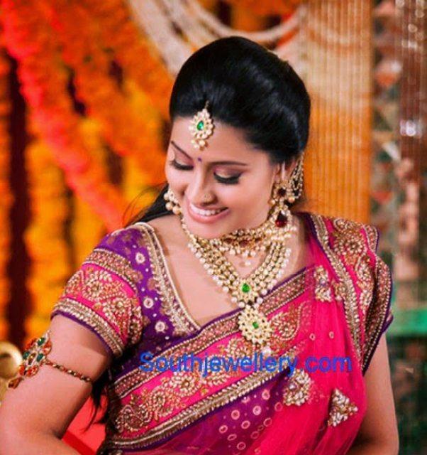 Actress Sneha S Complete Wedding Jewellery Jewellery Designs