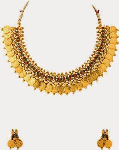 One Gram Gold Kasulaperu Necklace Jewellery Designs