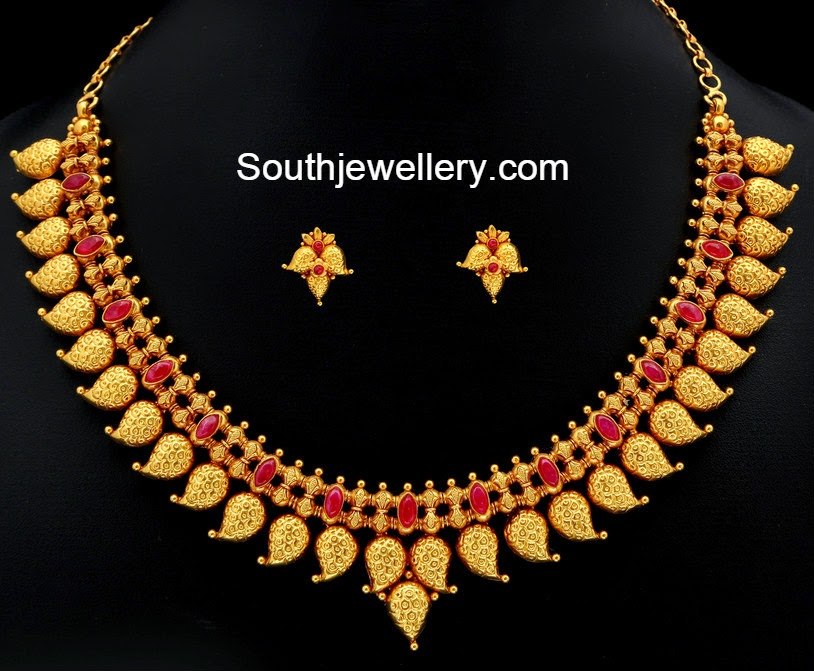 Traditional Gold Necklace Designs In 10 Grams