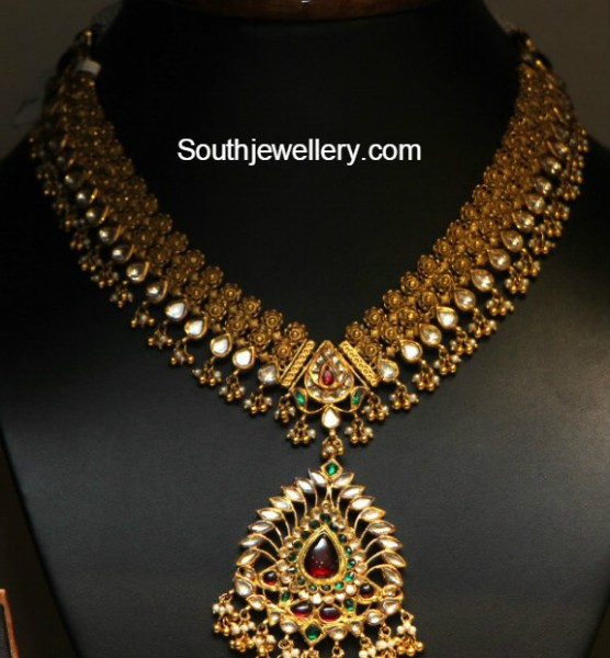 Latest Indian Jewellery Designs 2015: Kundan Necklace Latest Jewelry Designs
