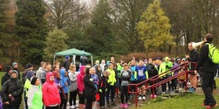 Families and runners brave the cold and rain for Skye