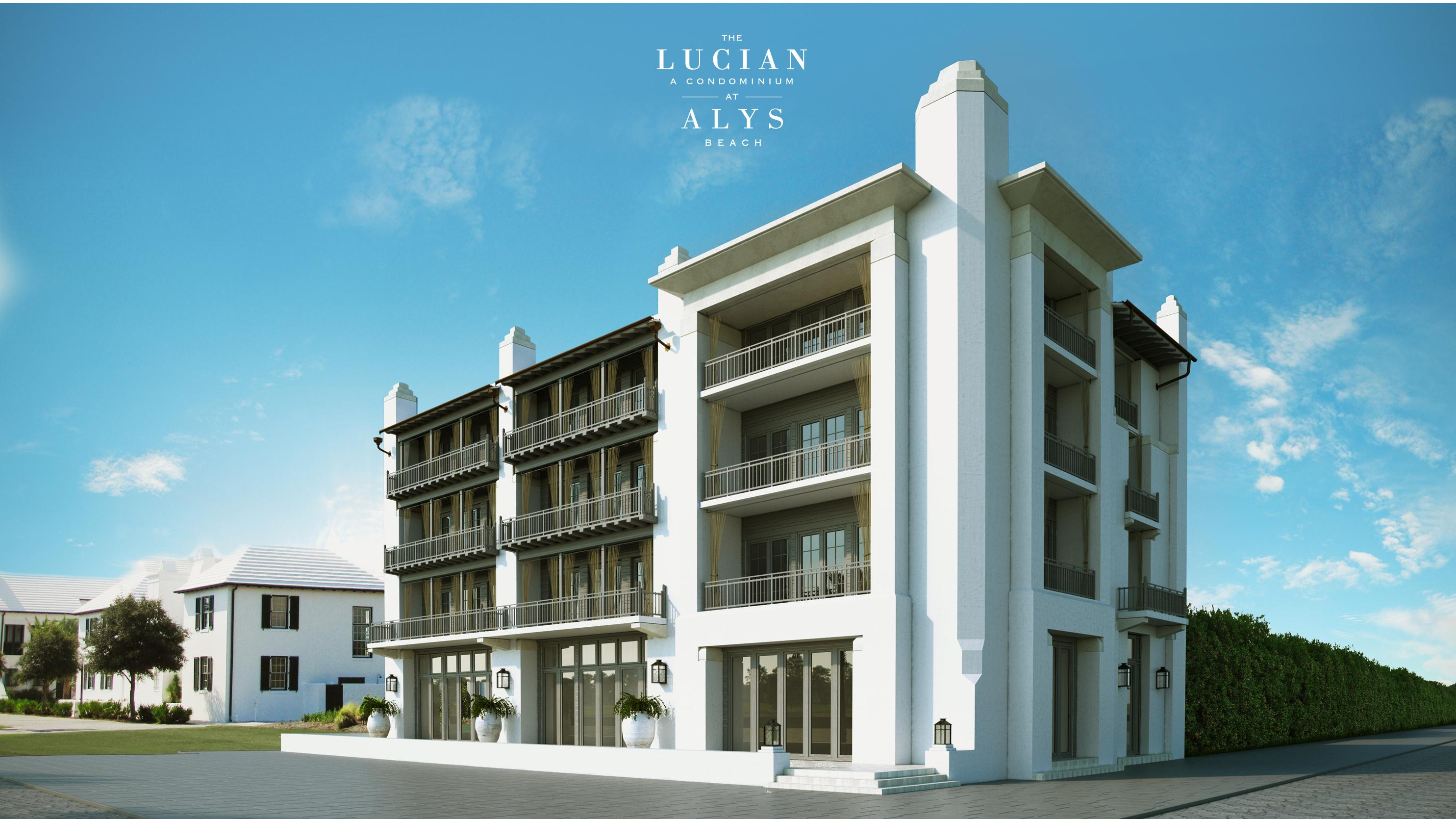 The lucian new condo development at alys beach for 30a home builders