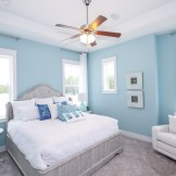 Find tranquility on 30A in this Bahama floor plan master bedroom.