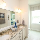 Unwind after a day at the beach in this master bath, part of the Cozumel plan units in Prominence.