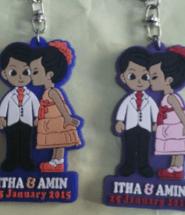 Gantungan Kunci Karet Untuk Souvenir Pernikahan