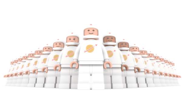 blender model lego cosmonauts