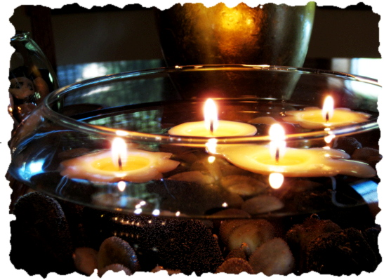 Light Up Your Evening-DIY Floating Candles Centerpiece
