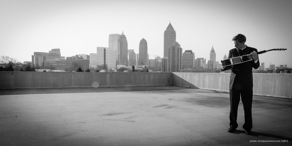 ATL skyline with guitar