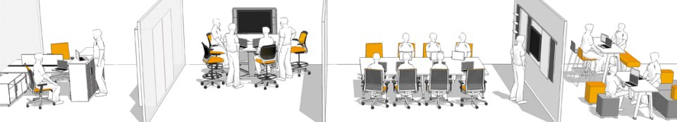 Well designed office cad image