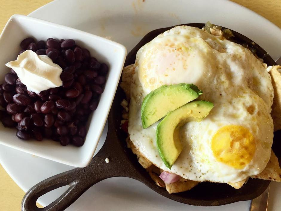 Never say no to brunch  Chicken chilaquiles eggs overhellip