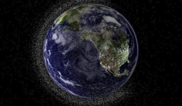 Artist conception of space debris in low Earth orbit (Credit: Australia's Electro Optic Systems).