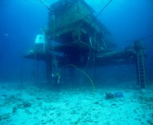 NEEMO's underwater Aquarius base - (Credits: NASA).