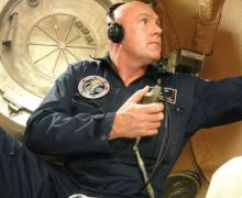 André Kuipers during training at Star City. (Credits: ESA).