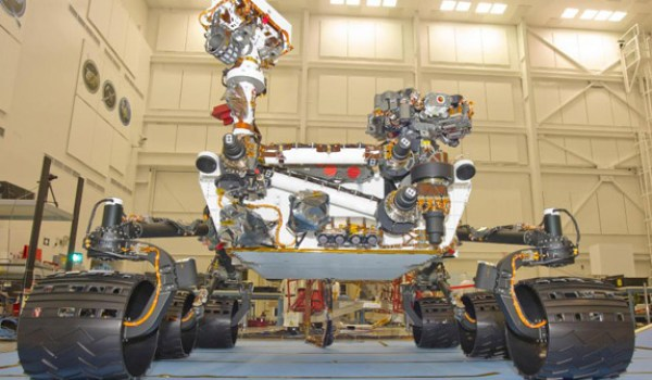 The Curiosity rover (Credits: NASA).